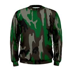Army Green Camouflage Men s Sweatshirt by BangZart