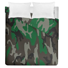 Army Green Camouflage Duvet Cover Double Side (queen Size) by BangZart