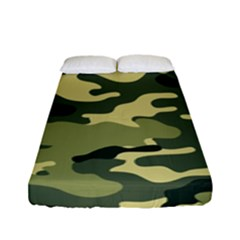 Camouflage Camo Pattern Fitted Sheet (full/ Double Size) by BangZart
