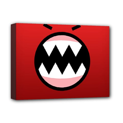 Funny Angry Deluxe Canvas 16  X 12   by BangZart