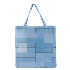 Blue Squares Iphone 5 Wallpaper Grocery Tote Bag by BangZart