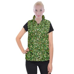 Camo Pattern Women s Button Up Puffer Vest