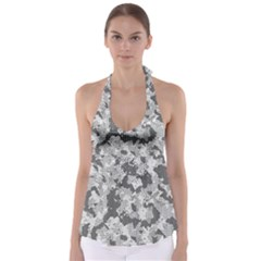 Camouflage Patterns Babydoll Tankini Top