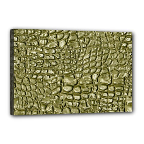 Aligator Skin Canvas 18  X 12  by BangZart