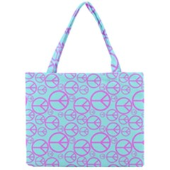Peace Sign Backgrounds Mini Tote Bag by BangZart