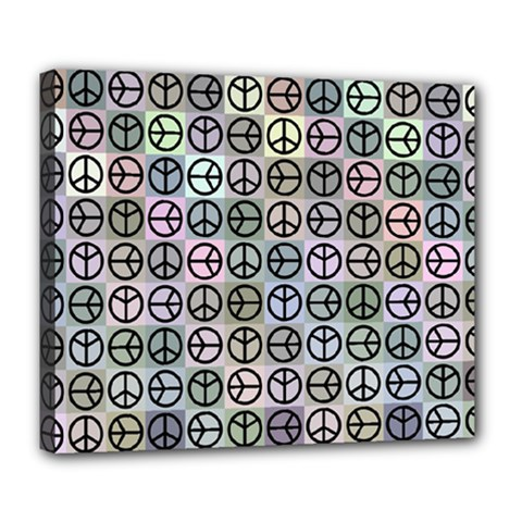 Peace Pattern Deluxe Canvas 24  X 20