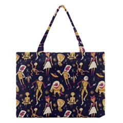 Alien Surface Pattern Medium Tote Bag by BangZart
