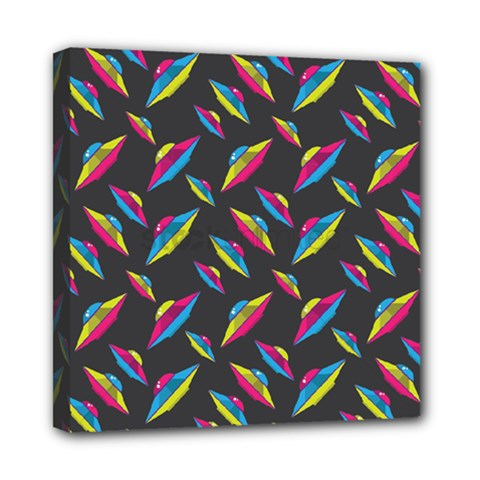 Alien Patterns Vector Graphic Mini Canvas 8  X 8  by BangZart