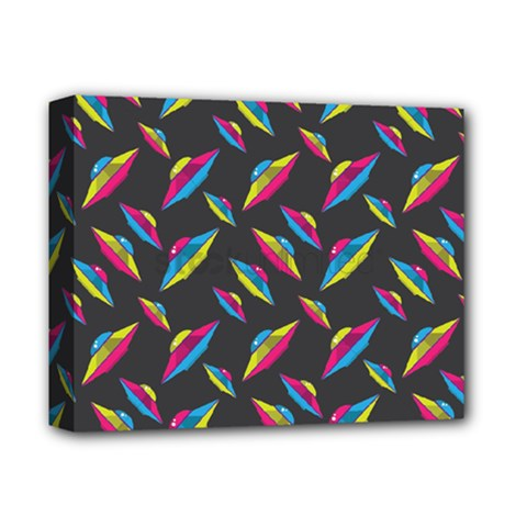 Alien Patterns Vector Graphic Deluxe Canvas 14  X 11  by BangZart