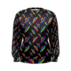 Alien Patterns Vector Graphic Women s Sweatshirt by BangZart