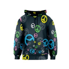 Peace & Love Pattern Kids  Zipper Hoodie