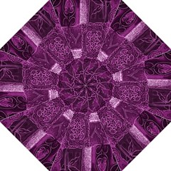 Purple Background Patchwork Flowers Straight Umbrellas by BangZart