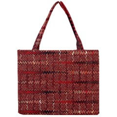 Rust Red Zig Zag Pattern Mini Tote Bag by BangZart