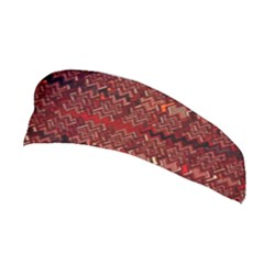 Rust Red Zig Zag Pattern Stretchable Headband by BangZart
