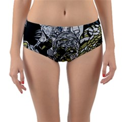 The Monster Squad Reversible Mid-waist Bikini Bottoms by BangZart