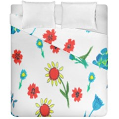 Flowers Fabric Design Duvet Cover Double Side (california King Size) by BangZart