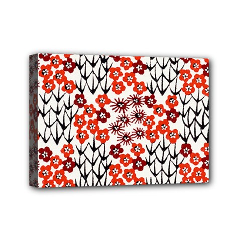 Simple Japanese Patterns Mini Canvas 7  X 5  by BangZart