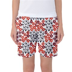 Simple Japanese Patterns Women s Basketball Shorts