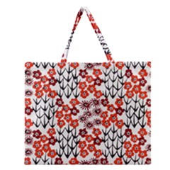 Simple Japanese Patterns Zipper Large Tote Bag by BangZart