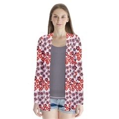 Simple Japanese Patterns Drape Collar Cardigan by BangZart