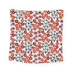 Simple Japanese Patterns Square Tapestry (small) by BangZart