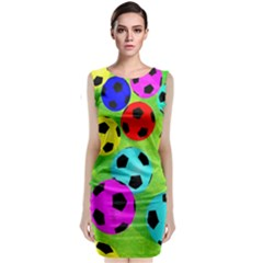 Balls Colors Classic Sleeveless Midi Dress by BangZart