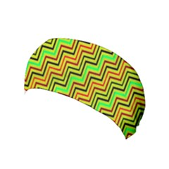 Green Red Brown Zig Zag Background Yoga Headband by BangZart