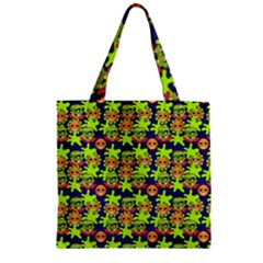 Smiley Monster Zipper Grocery Tote Bag by BangZart