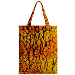 Yellow Chevron Zigzag Pattern Zipper Classic Tote Bag by BangZart