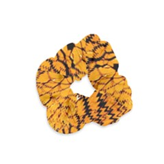 Yellow Chevron Zigzag Pattern Velvet Scrunchie by BangZart