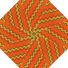 Orange Turquoise Red Zig Zag Background Folding Umbrellas by BangZart