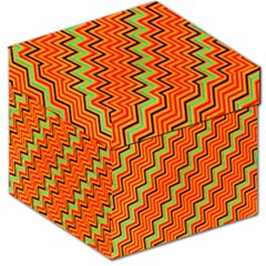 Orange Turquoise Red Zig Zag Background Storage Stool 12