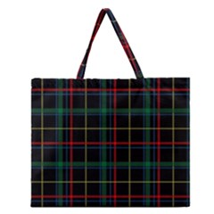 Tartan Plaid Pattern Zipper Large Tote Bag by BangZart