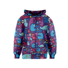 Hipster Pattern Animals And Tokyo Kids  Zipper Hoodie