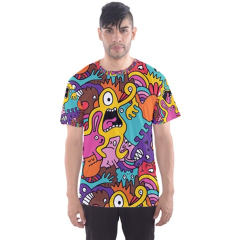 Monster Patterns Men s Sports Mesh Tee by BangZart