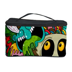 Crazy Illustrations & Funky Monster Pattern Cosmetic Storage Case by BangZart