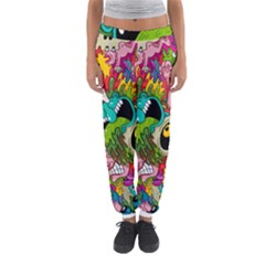Crazy Illustrations & Funky Monster Pattern Women s Jogger Sweatpants by BangZart