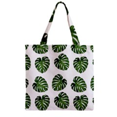 Leaf Pattern Seamless Background Zipper Grocery Tote Bag by BangZart