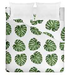Leaf Pattern Seamless Background Duvet Cover Double Side (queen Size) by BangZart