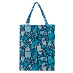 Monster Pattern Classic Tote Bag by BangZart