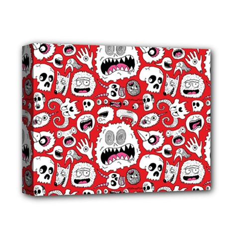 Another Monster Pattern Deluxe Canvas 14  X 11  by BangZart