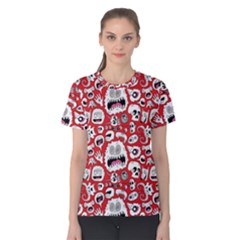 Another Monster Pattern Women s Cotton Tee