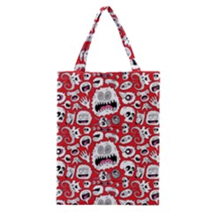 Another Monster Pattern Classic Tote Bag by BangZart