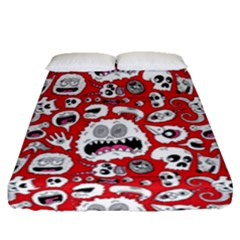 Another Monster Pattern Fitted Sheet (queen Size) by BangZart