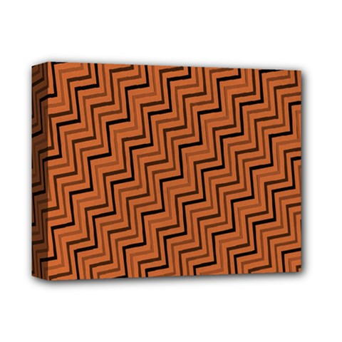 Brown Zig Zag Background Deluxe Canvas 14  X 11  by BangZart