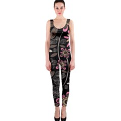 Flower Art Pattern Onepiece Catsuit by BangZart