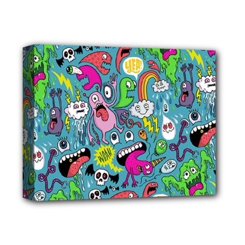 Monster Party Pattern Deluxe Canvas 14  X 11  by BangZart