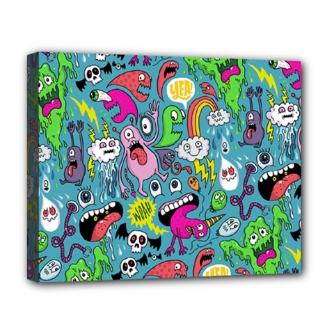 Monster Party Pattern Deluxe Canvas 20  X 16   by BangZart
