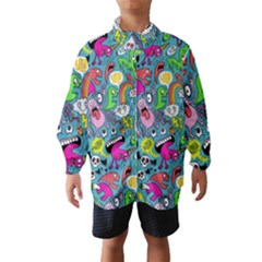 Monster Party Pattern Wind Breaker (kids) by BangZart