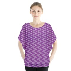 Zig Zag Background Purple Blouse by BangZart